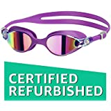 (CERTIFIED REFURBISHED) Speedo V-Class Virtue Mirror Swimming Goggles, Adult Free Size (Purple Vibe/Pink)