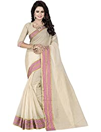 Om Tex Creation Women's Poly Cotton Saree