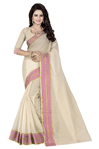 Widespread Collection Poly Cotton Saree With Blouse Piece (wide0161_Free Size)