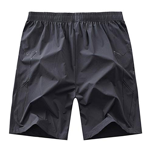 YACHAO Leichte Slim Fit Baumwoll Leinen Shorts mit Gürtel Sommer,Lose lässige Baumwollshorts 2 XXXL