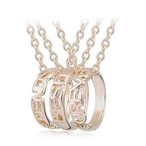 plj Lady Halskette 3-Blütenblatt Ring Halskette Herren und den Guten Freund Kette Halskette