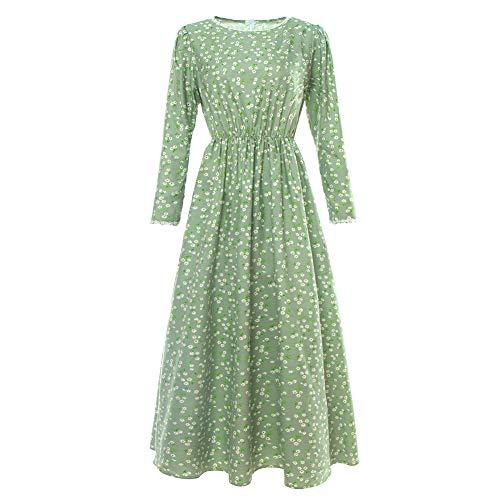 NSPSTT Damen Prairie Fancy Dress Vintage Viktorianischen Colonial Bauer Kostüm Mütze Hut EU 44
