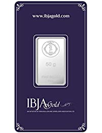 IBJA Gold Investment 50 gm Silver Coin Frames for Women (IG50GMS999INVBR054)