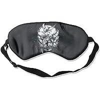 Sleep Eye Mask Skull Inserts Lightweight Soft Blindfold Adjustable Head Strap Eyeshade Travel Eyepatch preisvergleich bei billige-tabletten.eu