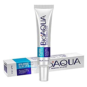 Pawaca Acne Scar Treatment, Natural Blemish Gel, BioAQUA Acne Pimple Acne Spot Removal Cream, Oil Control Shrink Pores Face Care Cream