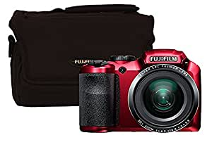 Fuji FinePix S4800 Compact Digital Camera - Red (16 MP, 30x Optical Zoom) 3-Inch LCD with Bridge Case