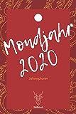 Mondjahr 2020: A5 Jahresplaner 2020 | Organizer | Jahreskalender | Buchkalender | Wochenkalender | Terminplaner für Jahresvorsätze, Asiaten, ... als Frauen als schönes Neujahrs Geschenk