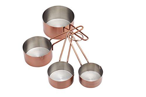 Kitchen Craft Messbecher-Set Master Class verkupfert in Silber/braun 4-teilig, Mischung aus Mehreren Materialien, 12 x 17 x 22 cm, 4-Einheiten (1 4-cup Messbecher)