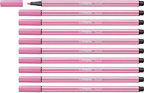 Premium-Filzstift - STABILO Pen 68 - 10er Pack - rosa