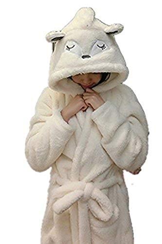 Kostüm Mädchen Fox - Mystery&Melody Kinder Einhorn Bademantel Flanell Mit Kapuze Süss Schlafanzug Cosplay Kostüme Tiere Ankleiden Unisex (L:166-186CM, Fox)