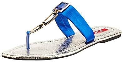HM Women's Blue Slippers - 6 UK/39 EU (HM616)
