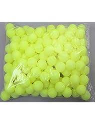 Coface 150Pcs Scrub Mesa de ping pong pelota de ping pong Bolas de la lotería de limón amarillo