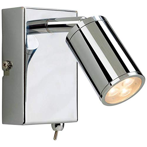 Chrome Light Switch (Firstlight Orion Chrome LED Wall Light with Switch)