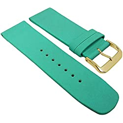 Graf Manufaktur Spree Turquoise & Replacement Watch Strap Leather Band 27082G, Bridge Width: 24 mm