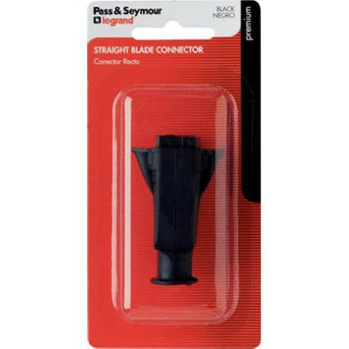 pass-seymour-86bkbpcc5-rubber-light-duty-flat-polarized-connector-125v-15-amp-black