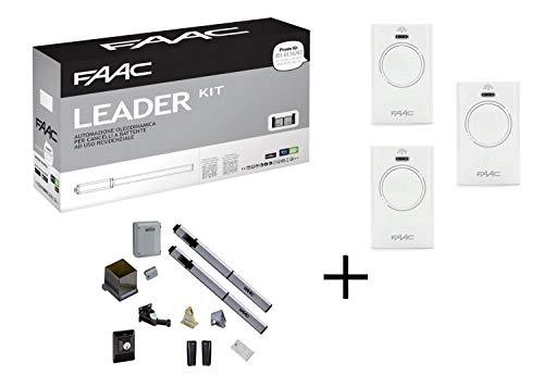 Promo Faac Leader Kit 230V Automazione Oleodinamica per cancelli e portoni a battente con lampeggiatore e fotocellule Max anta 1,8 m 105633445 + 3 Telecomandi Bicanali XT2 433 SLH in omaggio