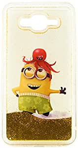 Purple Eyes Minion moving Sparkle Silicon Back Case for Samsung Galaxy J7 (Octopus)