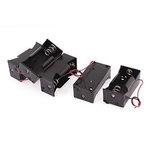 sourcingmap® 5 Pezzi Plastica 2 Cavo 1 x 1.5V Dimensione D Batteria Case Supporto Immagazzinamento - 1.5 Case