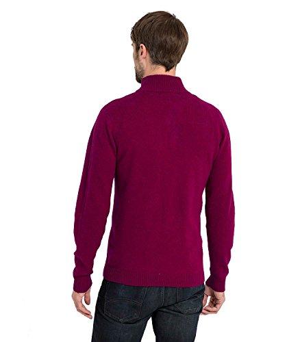 WoolOvers Pull à encolure zippée - Homme - Laine d'agneau Wine