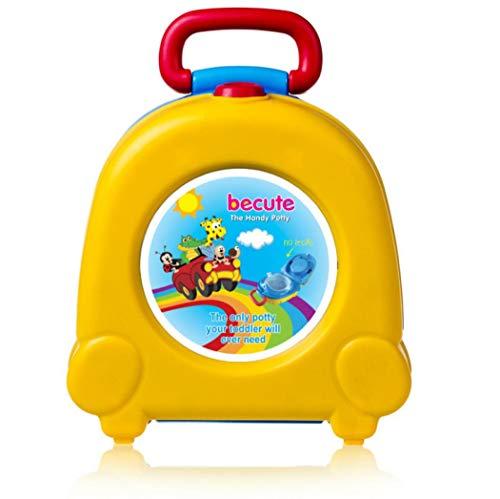 Vasino portatile da viaggio per bambini, per imparare a usare il vasino del WC, orinatoio per auto taglia unica Yellow