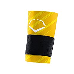 EvoShield MLB Speed Stripe Wrist Guard with Strap, Yellow, Small