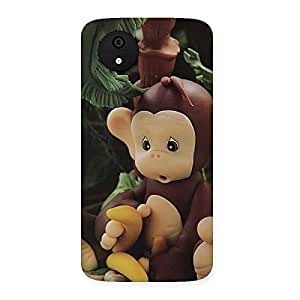 Toy Monkey Multicolor Back Case Cover for Micromax Canvas A1