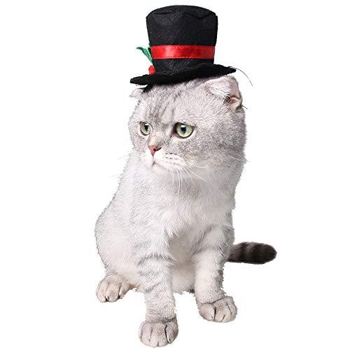 Winkey Fliege für Katzen, Hunde, Halsband, Krawatte, Gentleman Top Hut, Dekoration, klassisch passend