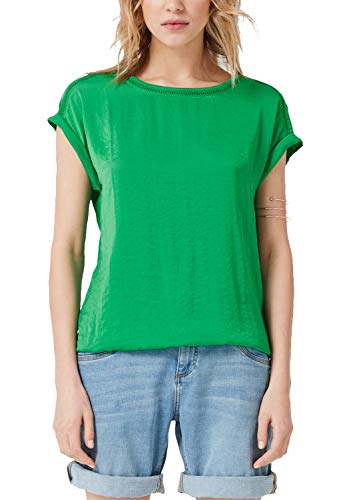 s.Oliver RED Label Damen T-Shirt mit Satin-Front Apple 46
