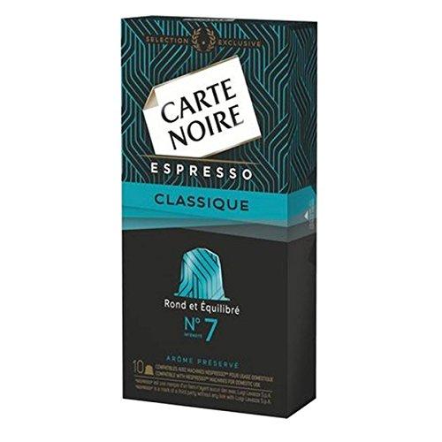 CAJA DE 10 CÃPSULAS DE CAFÉ CARTE NOIRE ESPRESSO CLASSIC Nº 7 - COMPATIBLE CON MAQUINAS NESPRESSO 172