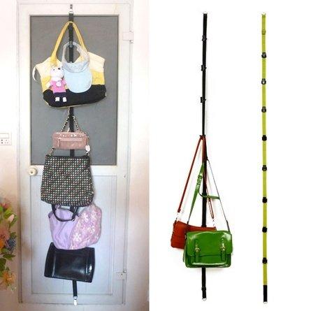Ganchos para sombrero, bolsa, ropa, soporte para puerta, percha para armario, ahorro de espacio con 8 ganchos