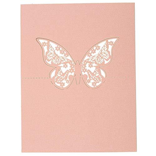 hmetterling Papier Platz Karten Halter Name Karten Tabellen Nummer FüR Hochzeits Party Party Dekoration Rosa ()