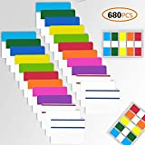 4EVERHOPE 680Pcs Sticky Index Registerkarten