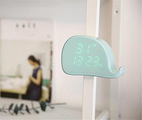 ELEGENCE-Z Weckr Wal Sprahsteuerung Nachtlcht LED Schlafzimmer Nachttisch Einfach Süß Kreativ Elektronisch Rosa Grün Mini Geschenke Weihnachtsschmuck Baby,Green