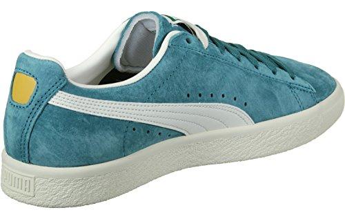 Puma Clyde Premium Core Harbor Blue-Whisper White