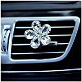 TOOGOO(R) Automobile air conditioning decoration diamond exquisite flower car export perfume decorative interior decoration of white