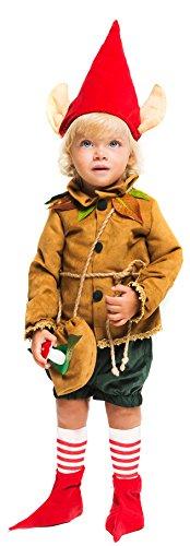 COSTUME di CARNEVALE da ELFO vestito per neonato bambino 0-3 Anni travestimento veneziano halloween cosplay festa party 52374 Taglia 1