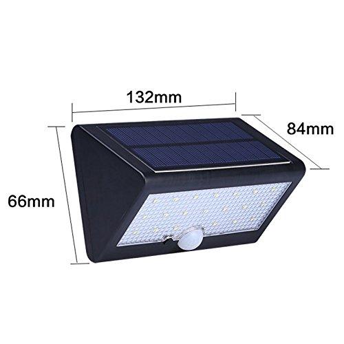 Lugii Cube détecteur de mouvement sans fil étanche 20led Solar Power LED de sécurité lampe murale lumières pour Diveway terrasse Jardin chemin Lampes solaires lumineux