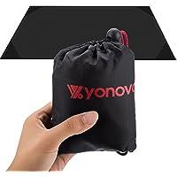 yonovo plegable bolsillo manta ligera alfombrilla portátil para picnic playa escalada viajar Camping senderismo, negro