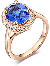 display08 - Anillo de Cristal Grande para Mujer, joyería de Dedo para Boda