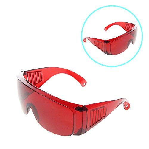 Sicherheit Brille Eye Schutz Lab Outdoor Arbeit Anti-Schutz Sicherheit Nebel Brillen Gläser 6x 19cm, rot