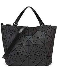 1403d043ebe21 Libeauty Rhombus Geometrie Umhängetaschen Eimer Tasche Umweltfreundliche  Lederhandtaschen Shopping Kausal Tasche