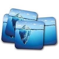 Lot de 4 dessous-de-verre en liège – Awesome Iceberg ... c854fe2922ca