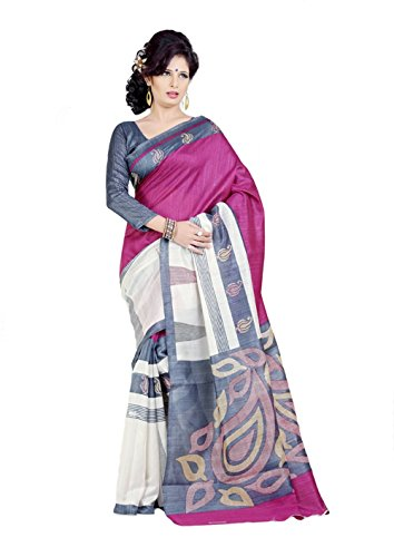 Samskruti Sarees Synthetic Saree(SPAS-5_Multi-Coloured)
