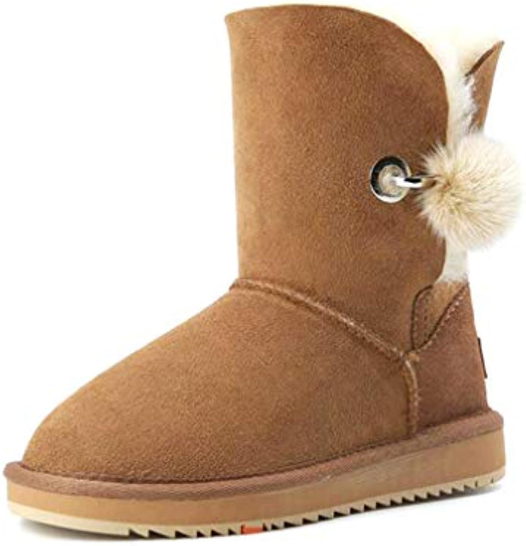 Hy 2018 Nouvelles Chaussures pour Femmes Bottes de Neige et Hivernales Chaudes et Neige Coupe-Vent pour Hommes et Femmes... 85bf3f