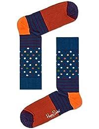 Happy Socks Rayures & Points Chaussettes Pour Hommes, Bleu/Bordeaux