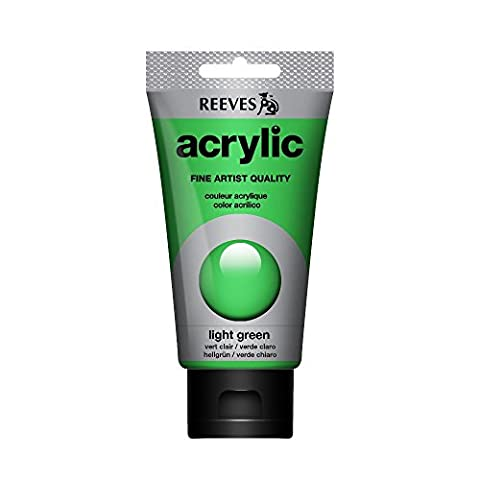 Reeves Acrylic Color Acrylic, High Concentrated, light green, 75ml Tube