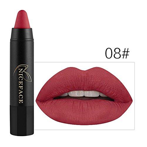 Lip Gloss,EUZeo Damen Lip Gloss Stift Beauty Make-up wasserfesten Filzschreiber feuchtigkeitsspendende, lang anhaltende Lipgloss (8)