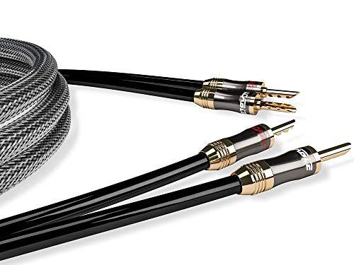Ricable L2 Ultimate Speaker 2 x 2 mt Cavo di Potenza Hi-Fi OFC per Diffusori Acustici