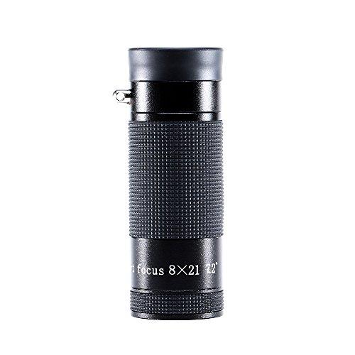 USCAMEL Monoculare Mini 5x12, Piccolo, Pieghevole e Portatile, Nero