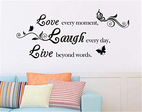Englisch lieben, lachen, Leben grün Geschnitzte Wand kleben Das Wohnzimmer Das Schlafzimmer schmückt die Aufkleber